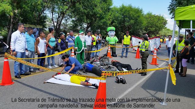 SecTránsito-GoberNorte lanza campaña: 'Por una Navidad segura salvemos vidas en las vías' #RSY #OngCF