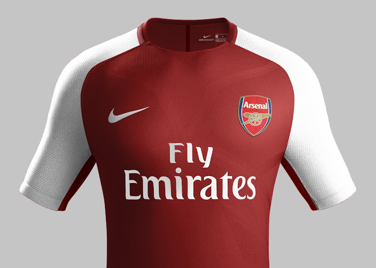 Nike Arsenal 17-18 Home & Away Kits Concepts By NatoDoldan