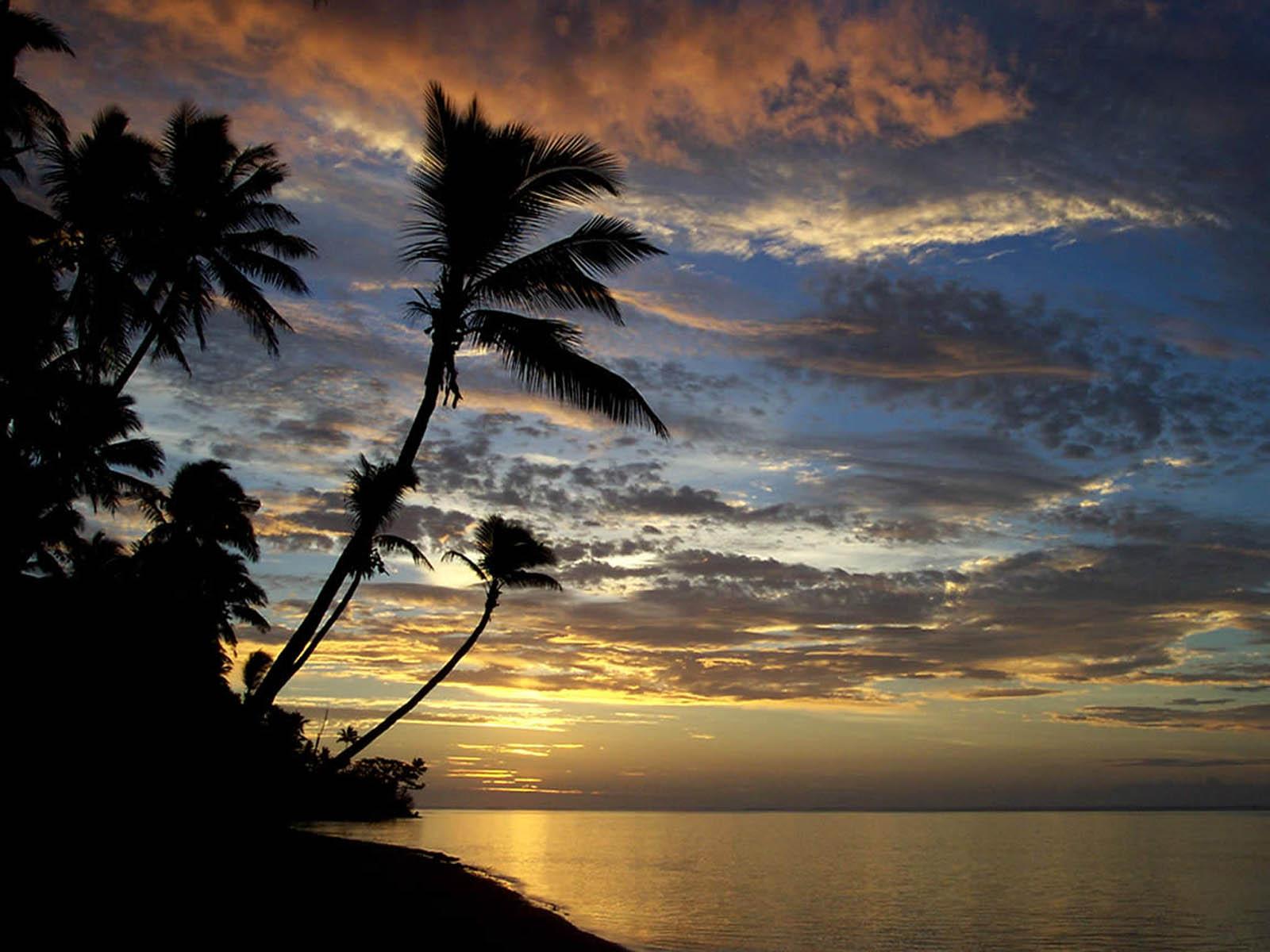 Hd Tropical Island Beach Paradise Wallpapers And Backgrounds: Wallpapers: Island Sunset Wallpapers