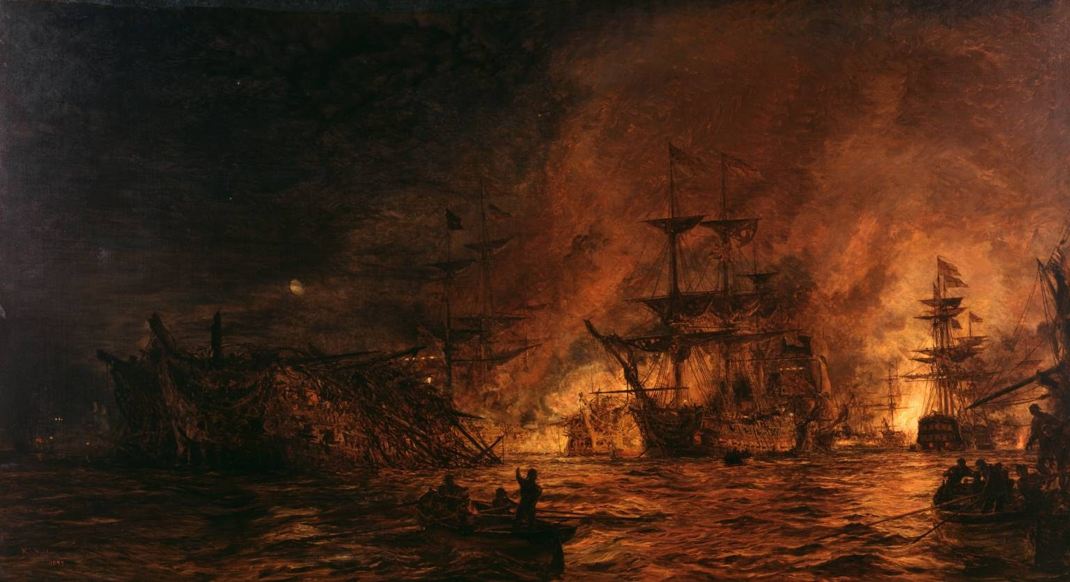 Charles William Wyllie The Battle of the Nile  Tate London
