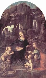 La Virgen de las Rocas por Leonardo Davinci