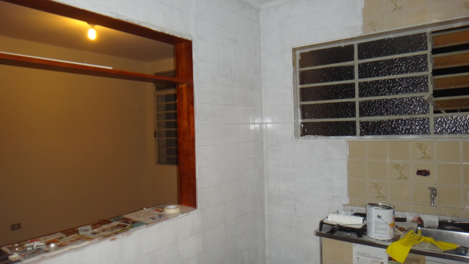 se esta casa fosse minha!?: SOS Cozinha! Pintando azulejos  #B0841B 1600x900 Azulejo Para Banheiro C&c