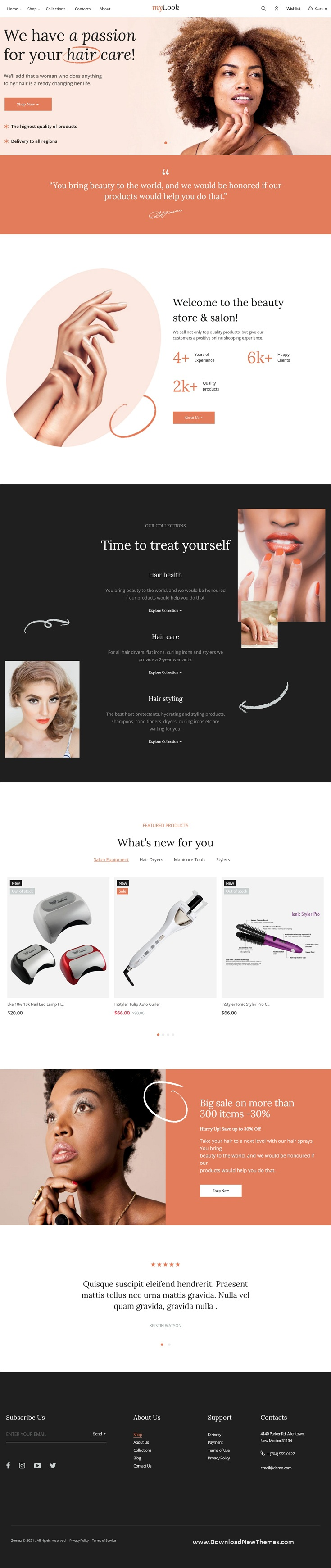 Nails and Hair Stylist Shopify Theme