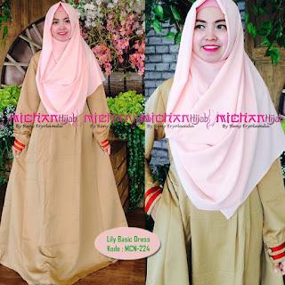 Gamis Michan Hijab Lily Basic 224
