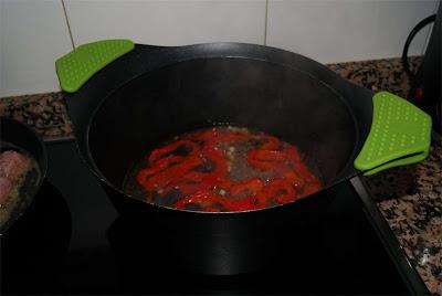 albóndigas en salsa de pimientos paso 2