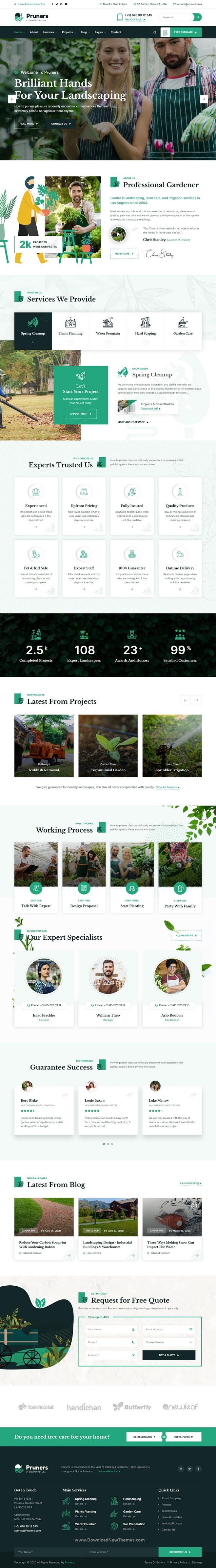 Garden Landscaper HTML Template