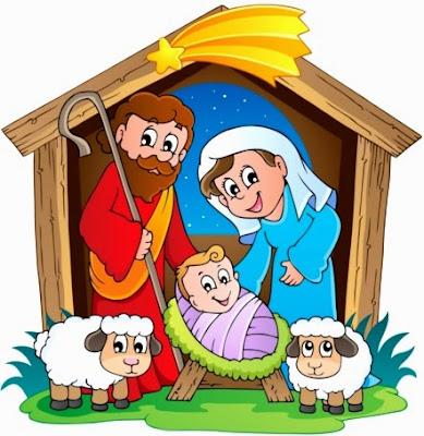 Ilustración del Nacimiento de Jesús para niños de inicial o primaria