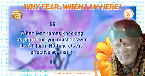 Fear And Faith - Sai Baba Smiling Picture