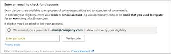 Microsoft Voucher Passcode Validation Check