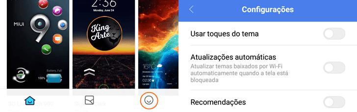 Desativar anúncios do aplicativo Temas Xiaomi