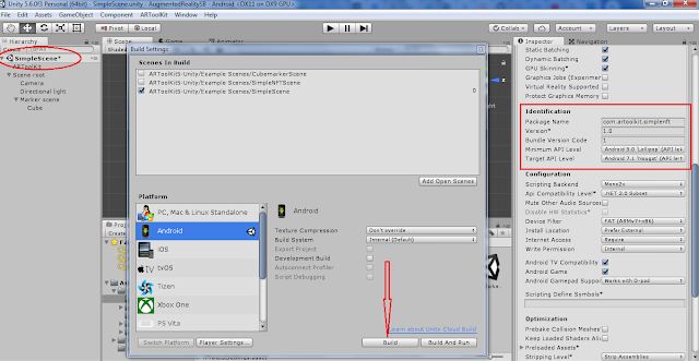 cara build dan settingsapk diunity