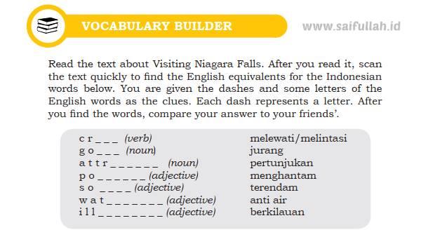 Kunci Jawaban Soal Bahasa Inggris Chapter 5 Halaman 70 Kelas 10 Vocabulary Builder