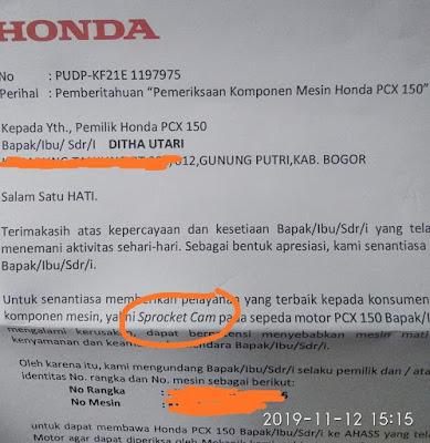 Honda Recall PCX?