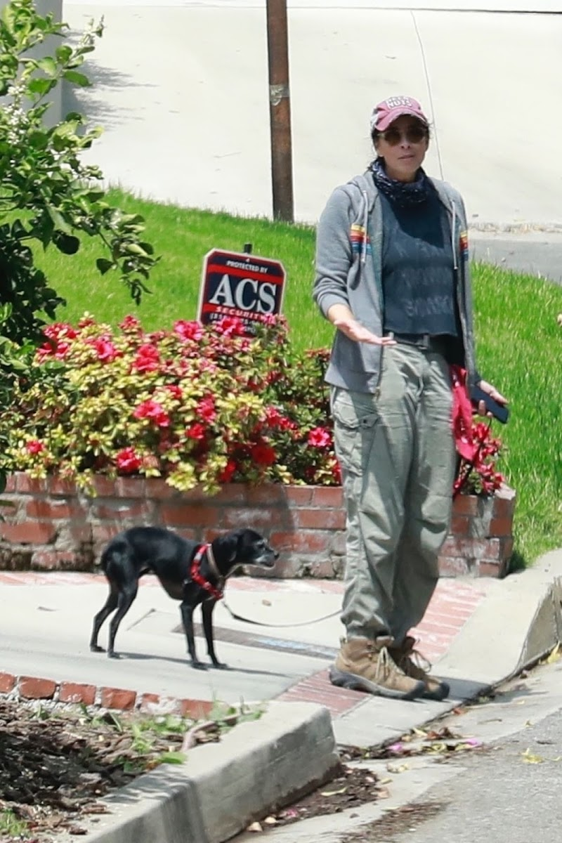 Sarah Silverman Out with Her Dog in Los Feliz 12 Apr-2021