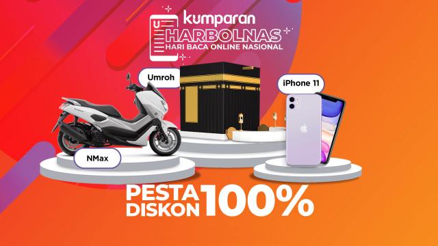 Harbolnasnya Kumparan: Baca Artikel di Kumparan Berhadiah Umroh, iPhone 11 dan Yamaha Nmax