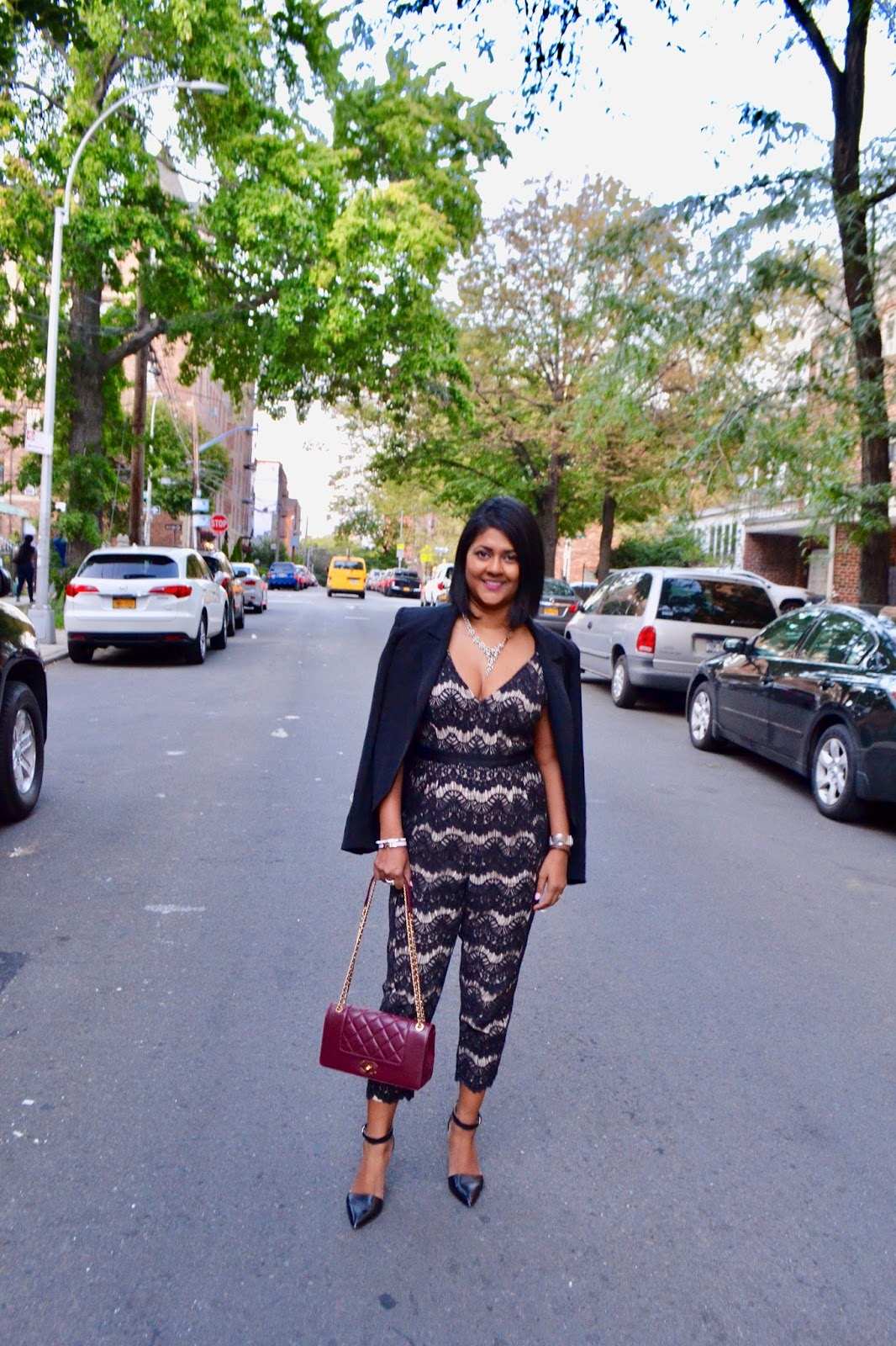 what i wore to NYFW tracy reese jumpsuit
