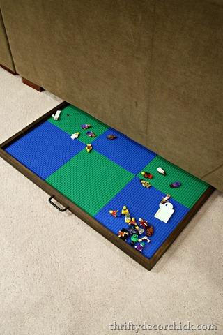 DIY large hideaway Lego tray