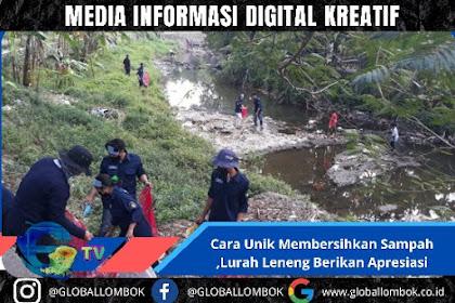 Ini Cara Unik Membersihkan sampah Di Kelurahan Leneng Praya Lombok Tengah