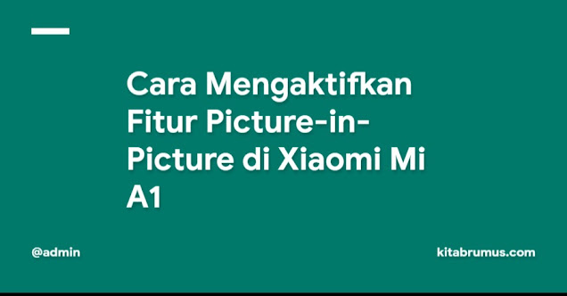 Cara Mengaktifkan Fitur Picture-in-Picture di Xiaomi Mi A1