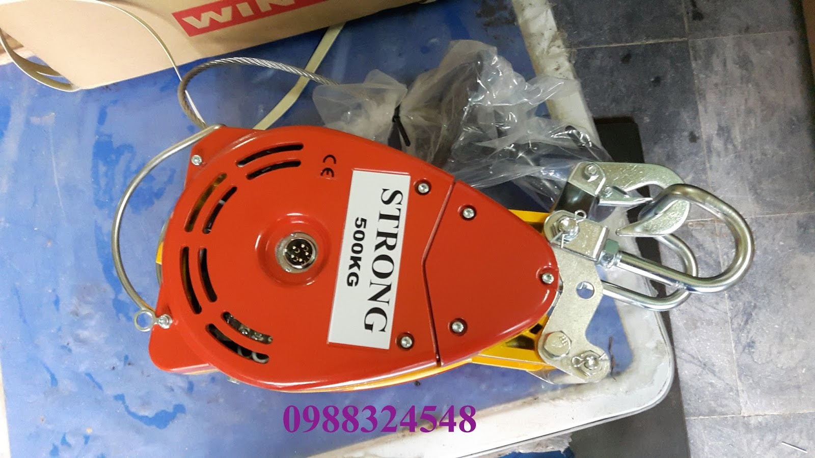 Tời cáp điện treo mini Duke DU-500A