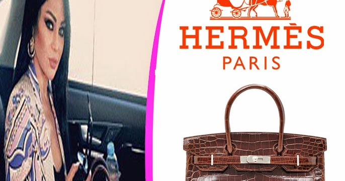 Haifa wehbe fashion and jewelry  Haifa Wehbe Carrying a Dark Brown  Niloticus Crocodile Skin Birkin Bag by Hermes fdf3de9a8057e