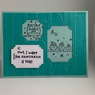 Have a Hoot Stamp Set used for handmade Hanukkah Card