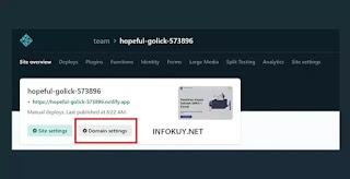 Setting Domain Name di Netlify