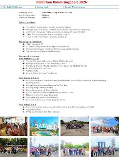 Paket Tour Batam Singapore 3D2N