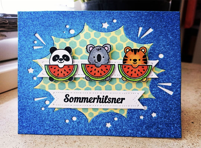 Sunny Studio Stamps: Beach Buddies Customer Card by C Henning