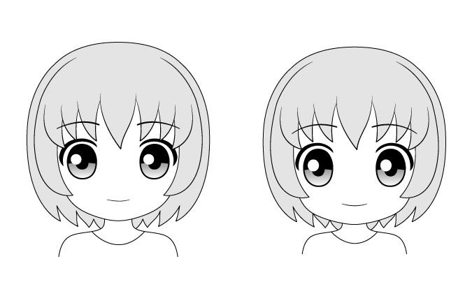 "Wajah anime ""Chibi"" sangat bergaya"
