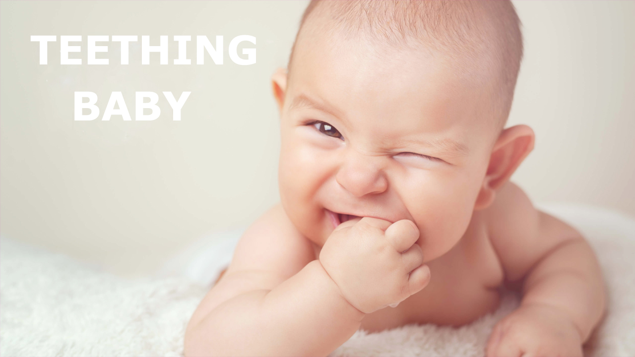 How can you relieve teething?