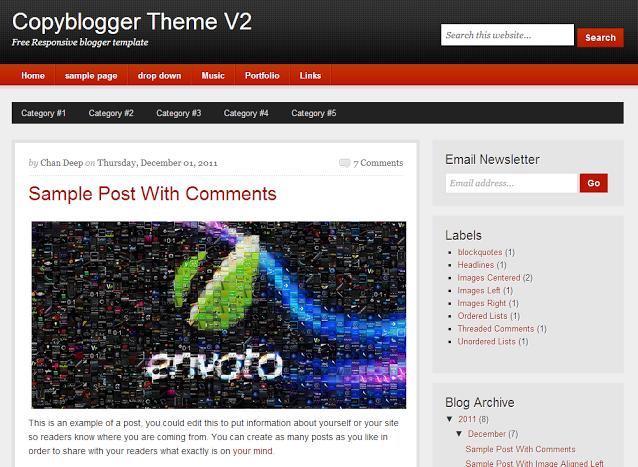 CopyBlogger V2 Blogger Premium Templa