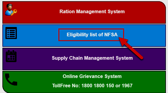 nfsa ration card status check