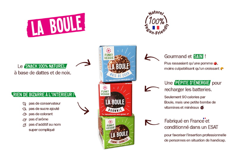 funky veggie description de la boule snack vegan