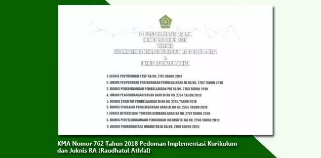 KMA-Nomor-762-Tahun-2018-Pedoman-Implementasi-Kurikulum-dan-Juknis-RA-(Raudhatul-Athfal)
