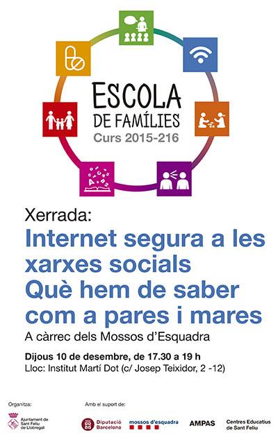 Escola de famílies 2015 Internet segura Sant Feliu de Llobregat
