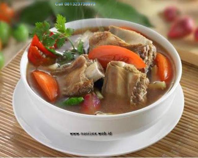 Resep sup iga sapi ala rumah makan ciwidey