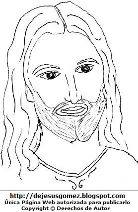 Dibujo de Jesús para colorear, pintar e imprimir. Dibujo de Jesús hecho por Jesus Gómez