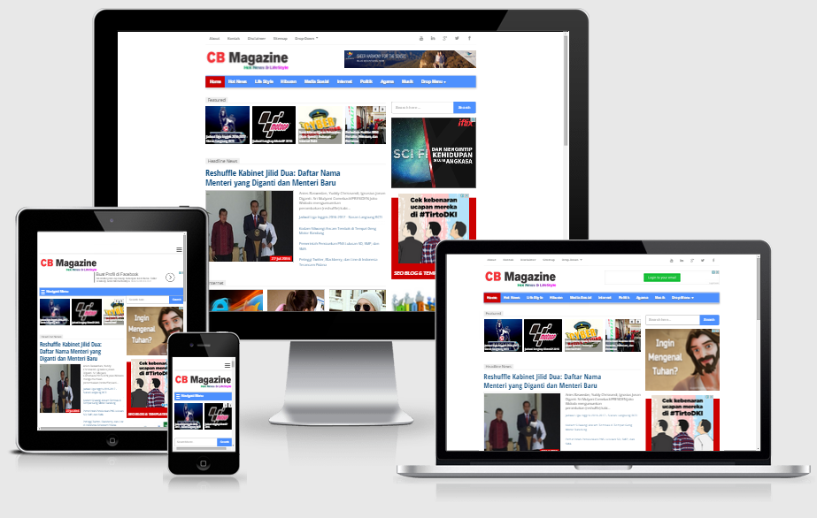 Download Template Blog untuk Niche Berita Beserta Tutorial Pemasangan