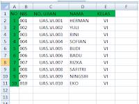 Kupas Tuntas Cara Membuat Kartu Ujian Kombinasi Excel - Word (Mail Merge)