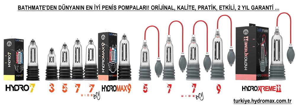 Bathmate Hydromax Türkiye penis pompaları.