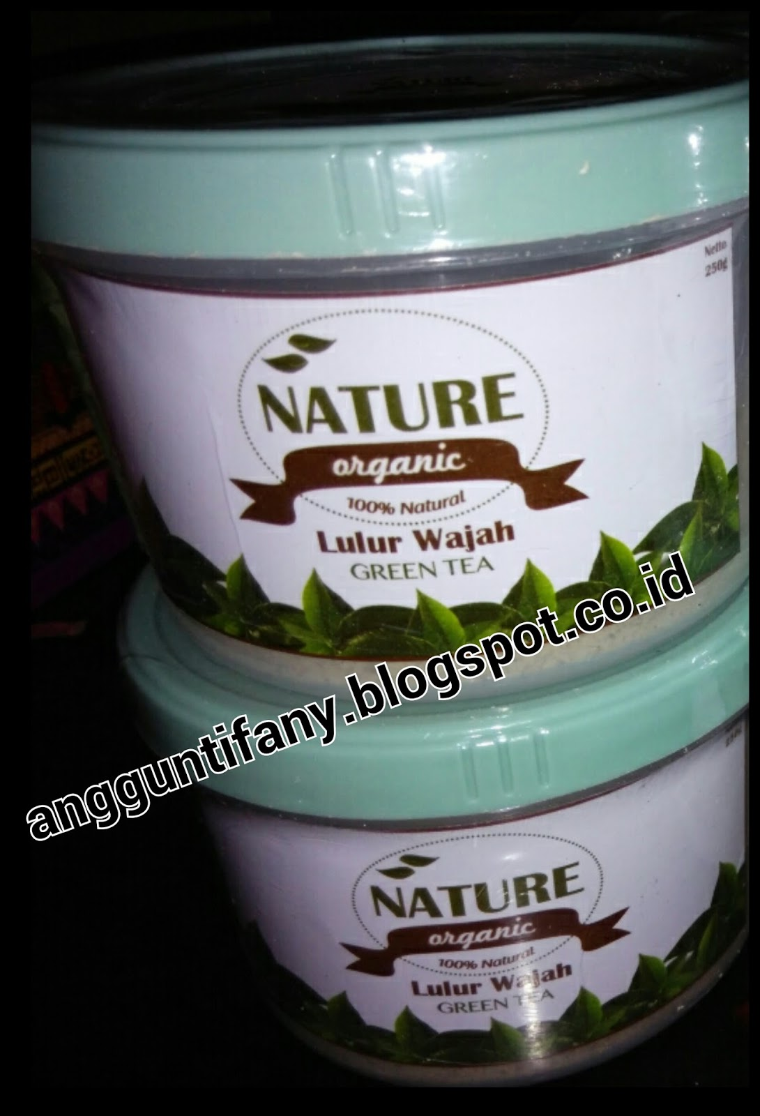 Review Lulur Wajah Nature Organic Green Tea Diary Anggun Tifany Natur E Cream