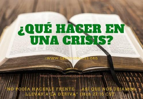 Los hijos de Dios en medio de la crisis que vive el mundo