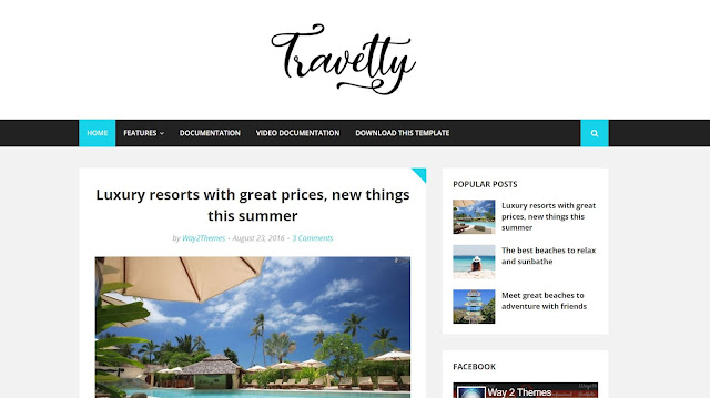 Travelty Responsive Travel Blogger Template