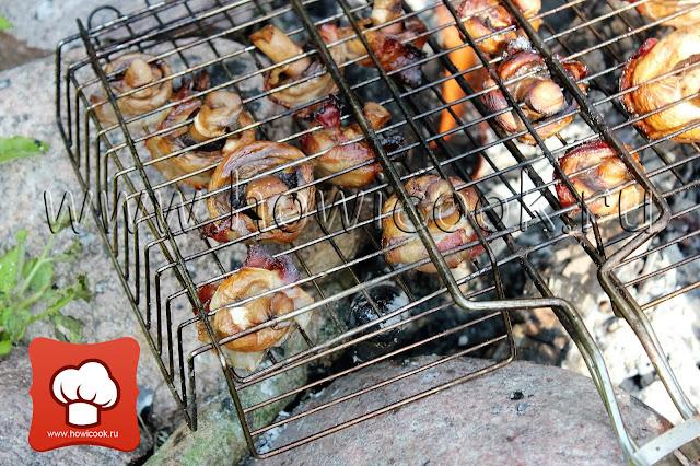 рецепты для пикника грибы на решетке