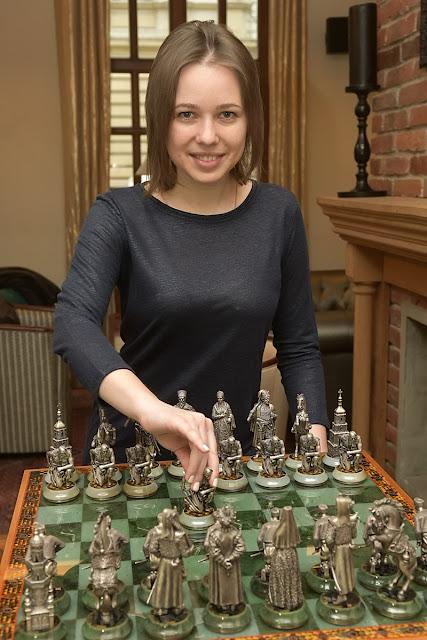 Mariya Muzychuk durante el Campeonato del Mundo Femenino