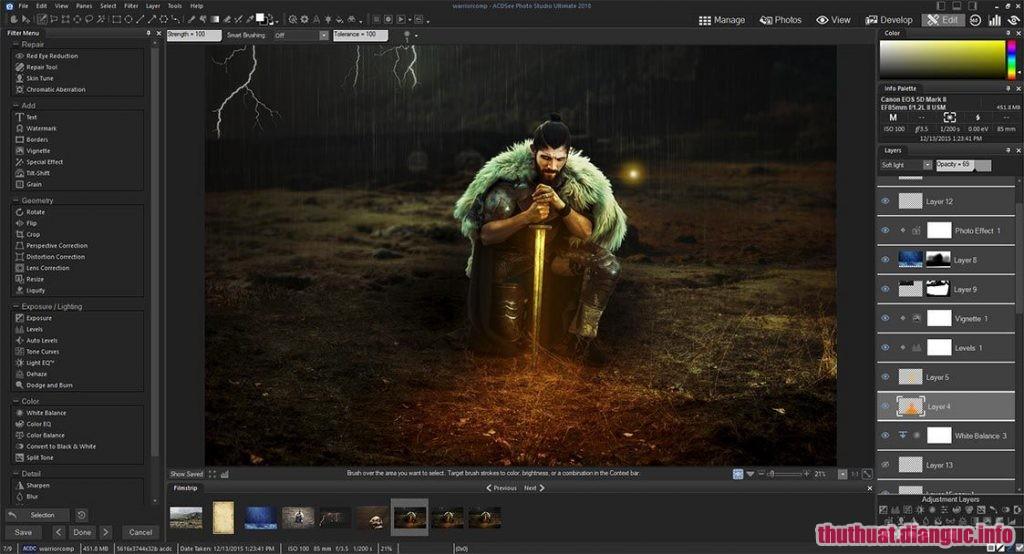 ACDSee Photo Studio Ultimate 2019 v12.0 Build 1593 Full Cr@ck – Phần mềm quản lý và chỉnh sửa ảnh