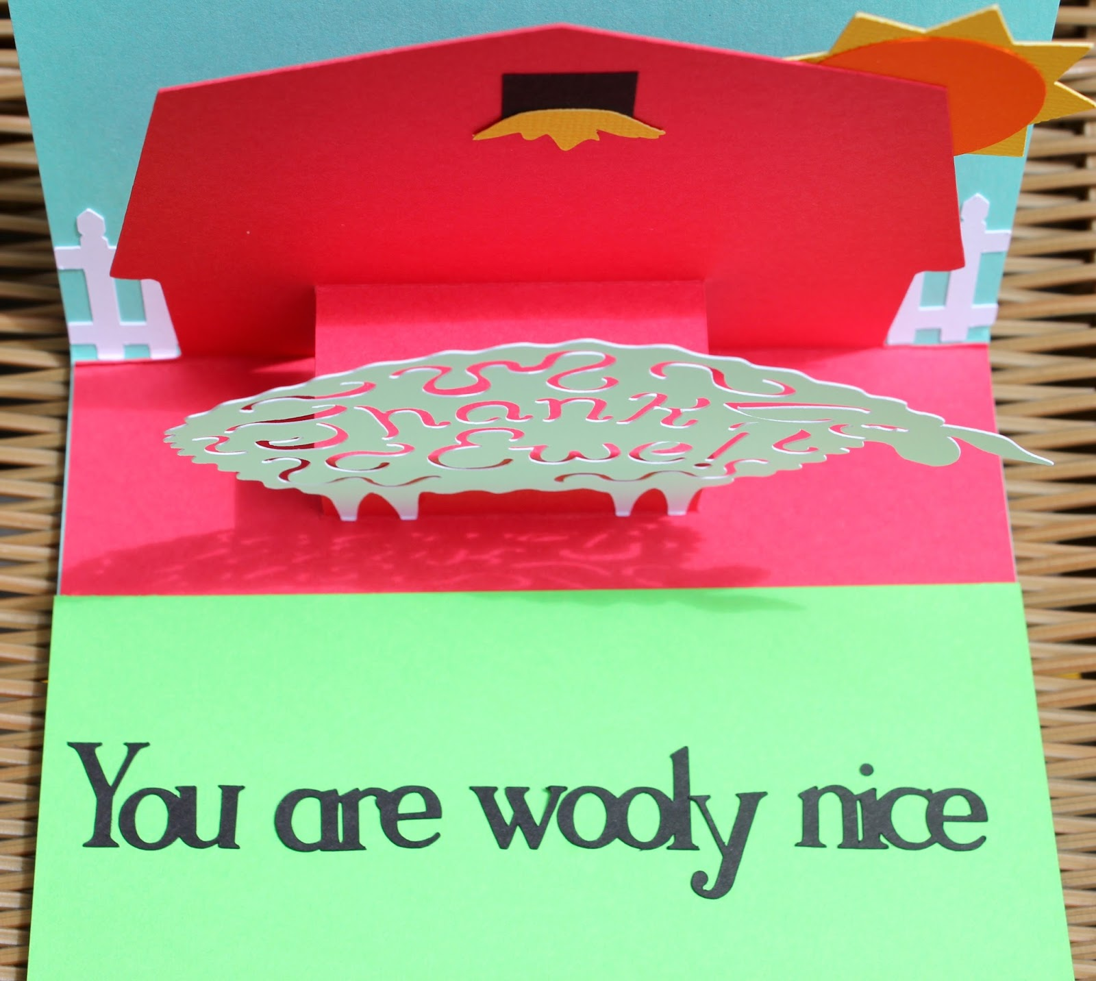 the cropping canuck popup thank ewe card