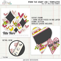Template : From The Heart 06 by Akizo Designs