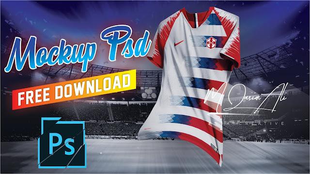 Download Yellow Image Football Shirt Mockup For Free by M Qasim Ali